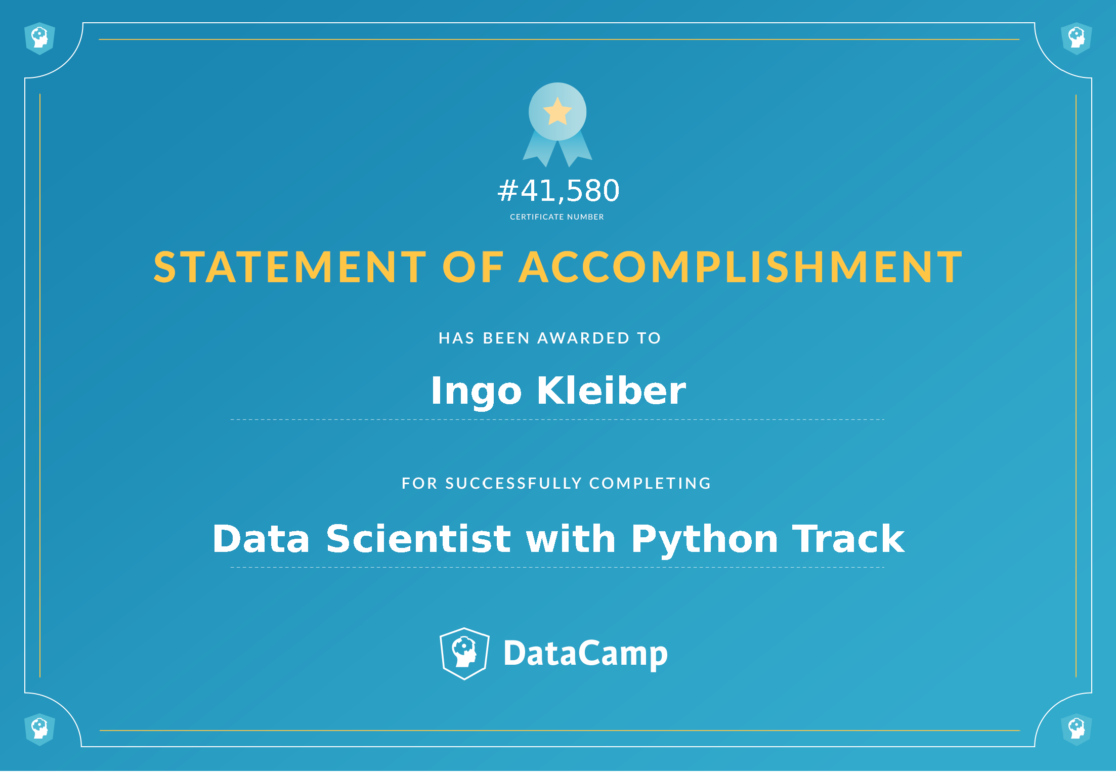 DataCamp Certificate (Data Science, Ingo Kleiber)