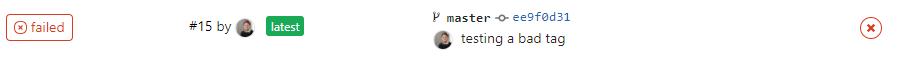 GitLab CI Example - Failed