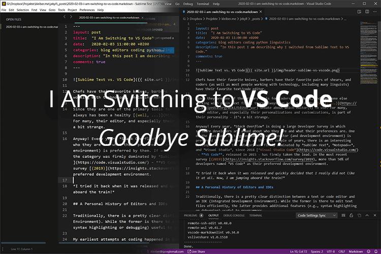 Sublime Text vs. VS Code