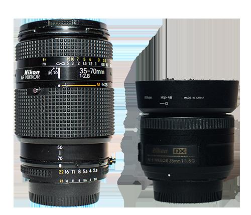Nikon Nikkor 35-70 2.8 and 35mm 1.8 DX