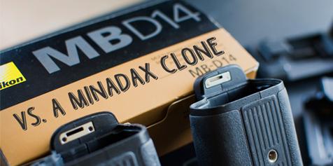 Nikon MB-D14 vs. Minadax Clone - A 150 Euro Decision