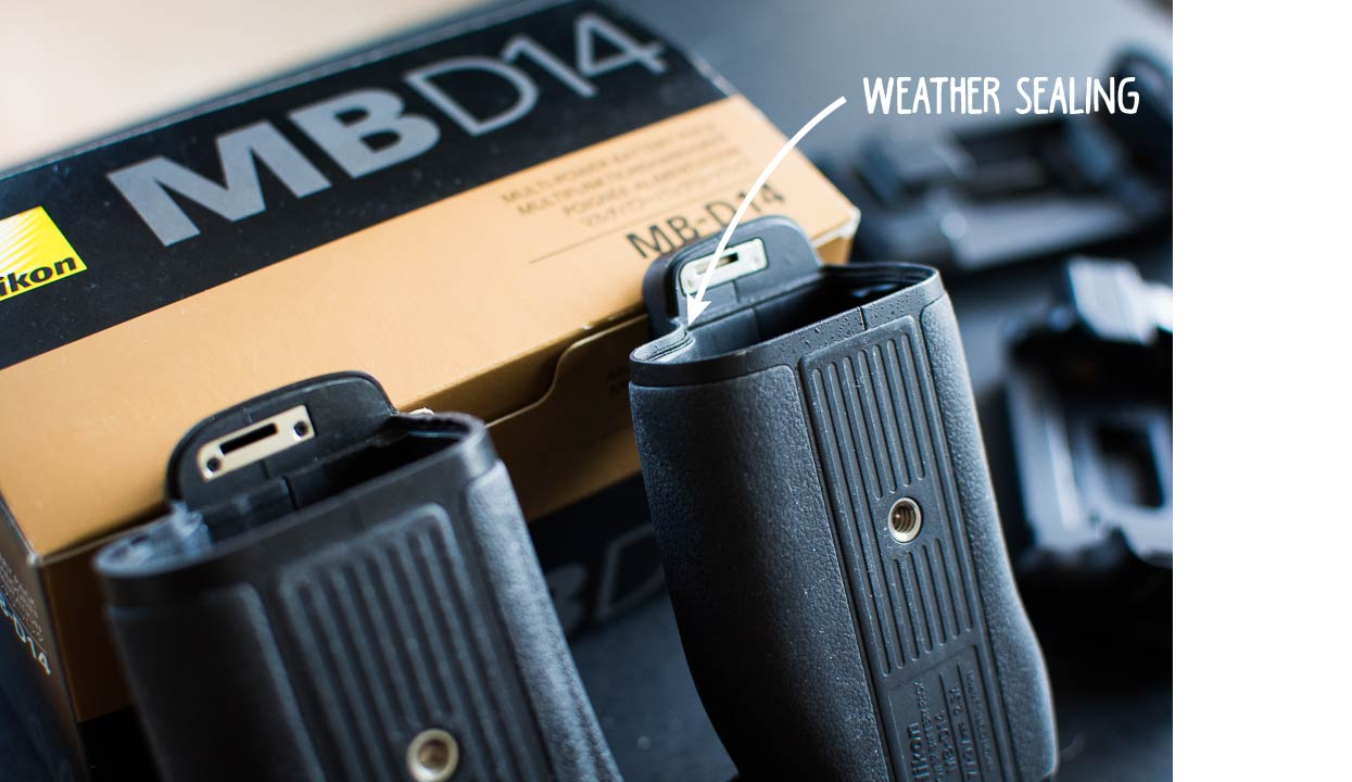 Nikon MB-D14 vs. Minadax Clone - Weather Sealing