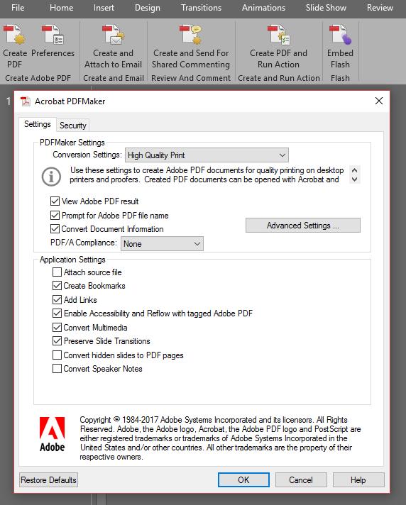 Adobe Acrobat DC - Change Default Settings