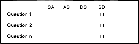 Likert-type scale example