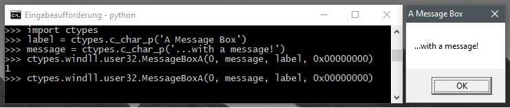 User32.dll MessageBox Example
